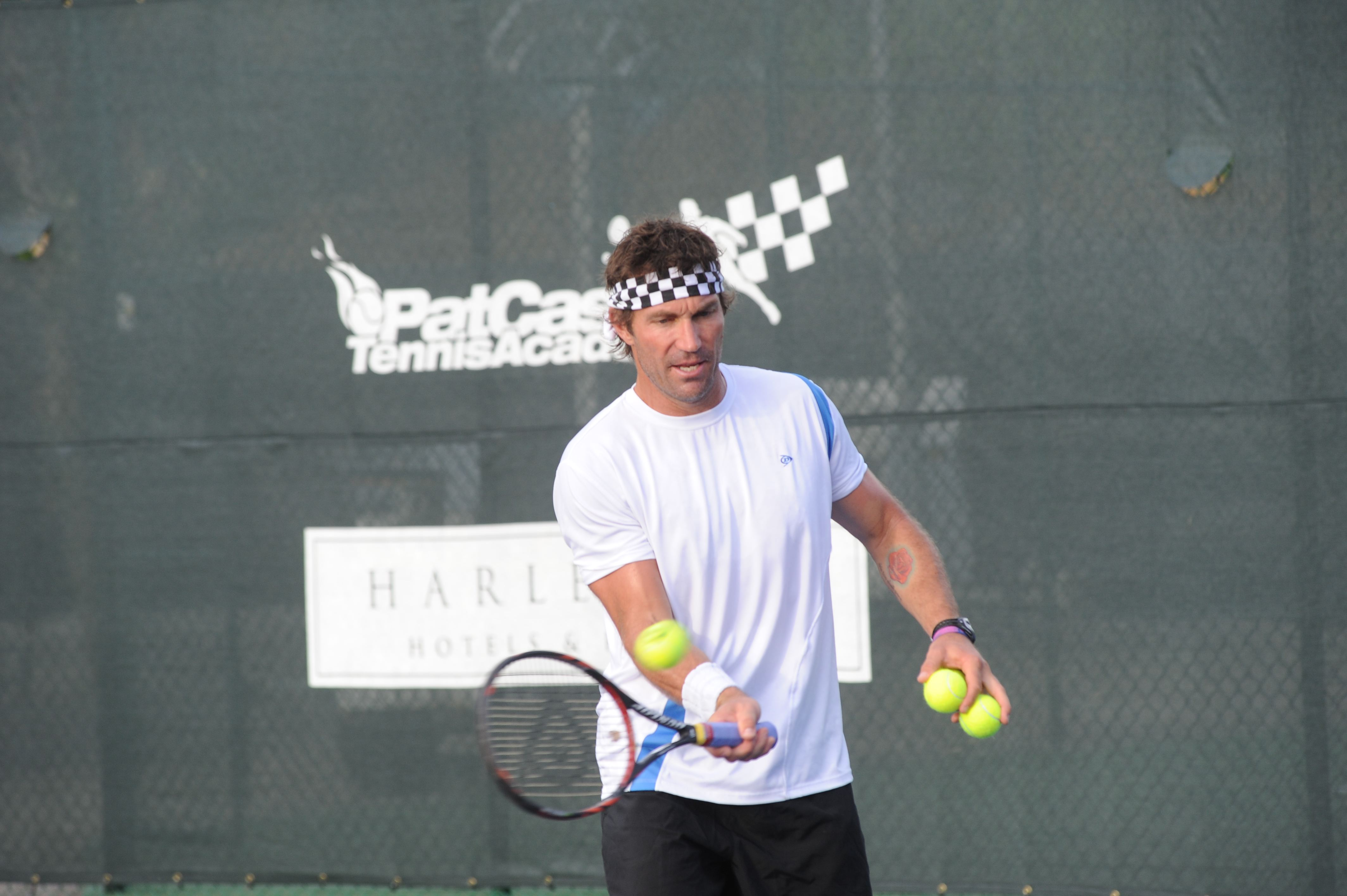Pat Cash is at Buccament Bay Resort