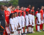 Liverpool FC's next generation line up before kick off