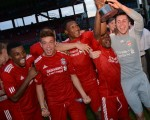 Liverpool FC U18s celebrate their win