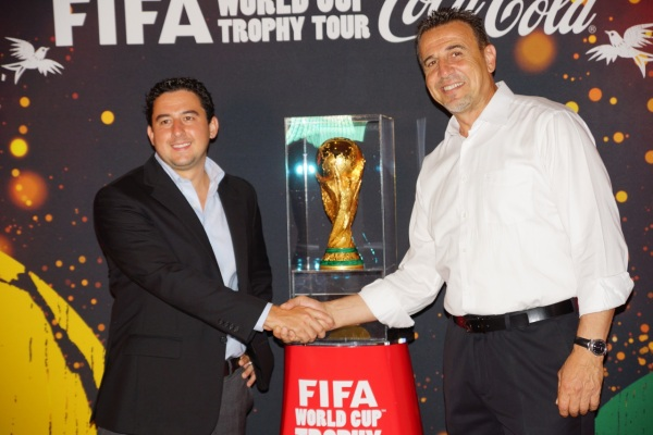 Buccament Bay Resort general Manager Michael Ibrahim & Coca Cola promotor Roberto Lapeira
