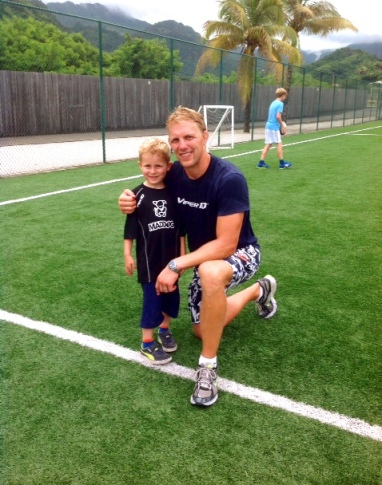 Lewis Moody with young guest Isaac
