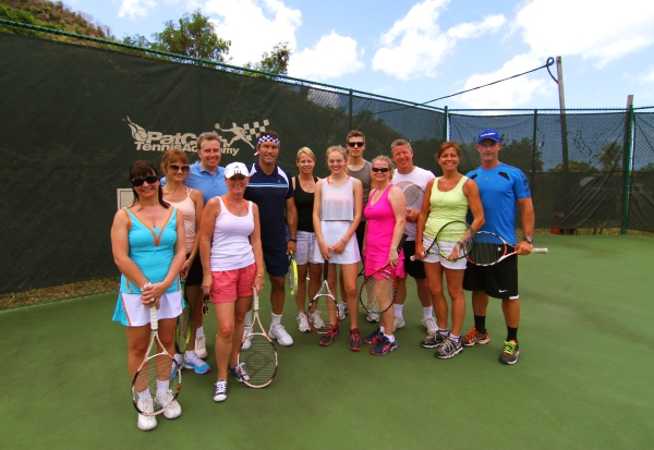 Pat Cash with guests - April 2014